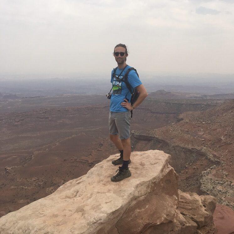 Austin Nash Standing At Canyonlands National Park